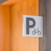 自転車置き場サイン